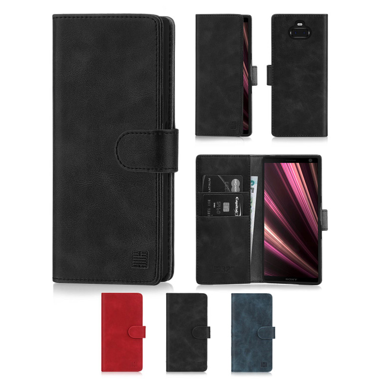 Sony Xperia 10 Plus (2019) 'Essential Series' PU Leather Wallet Case Cover