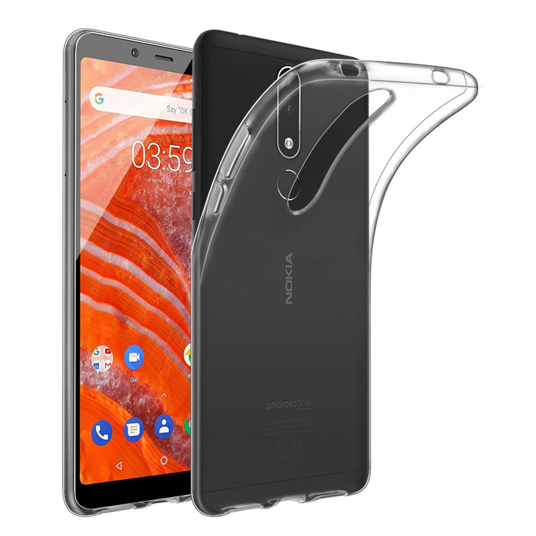 Nokia 3.1 Plus (2018) 'Clear Gel Series' TPU Case Cover - Clear