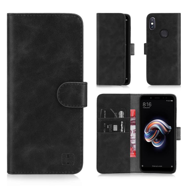 Xiaomi Redmi Note 5 'Essential Series' PU Leather Wallet Case Cover