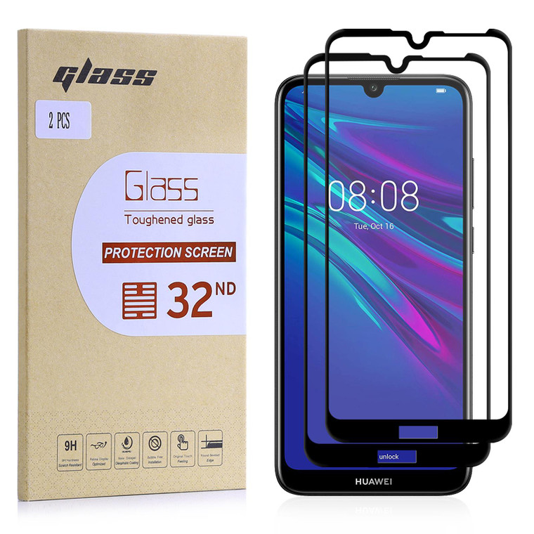 Huawei Y6 (2019) & Honor 8A Tempered Glass Screen Protector - 2 Pack