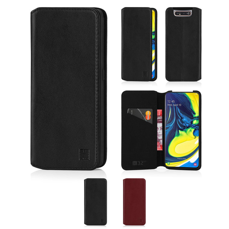 Samsung Galaxy A80 (2019) 'Classic Series 2.0' Real Leather Book Wallet Case