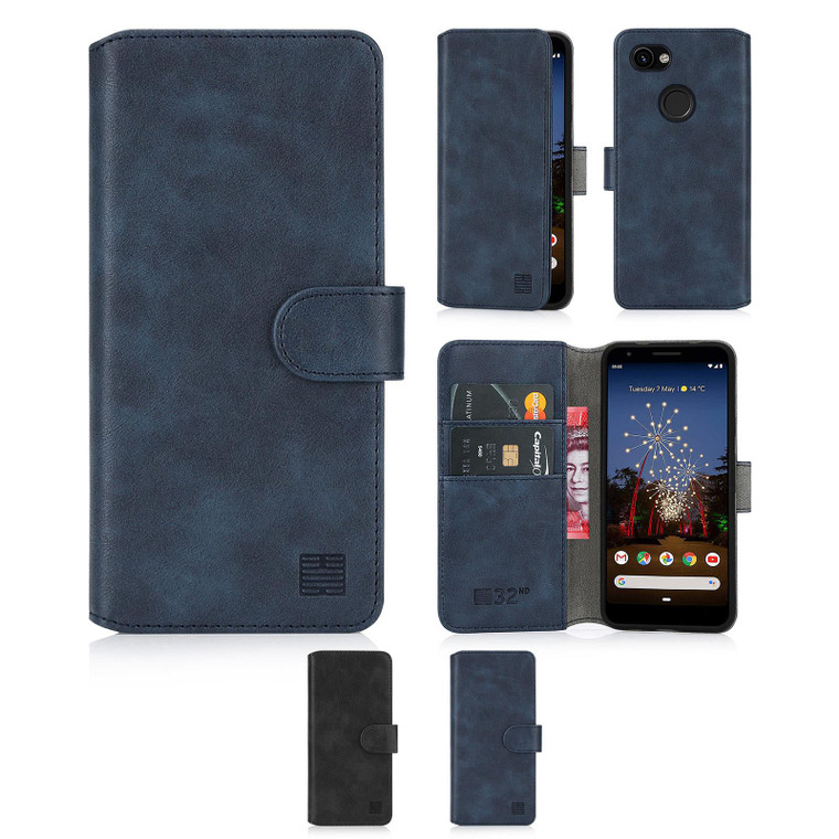 Google Pixel 3A XL 'Essential Series 2.0' PU Leather Wallet Case Cover