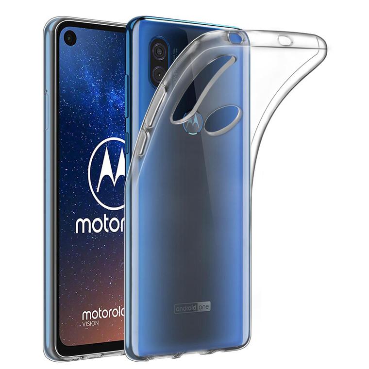 Motorola Moto One Vision 'Clear Gel Series' TPU Case Cover - Clear