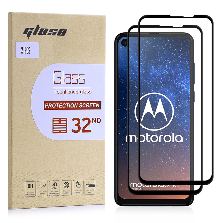Motorola Moto One Vision Tempered Glass Screen Protector - 2 Pack