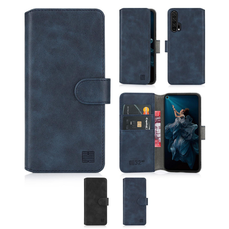 Huawei Honor 20 Pro 'Essential Series 2.0' PU Leather Wallet Case Cover