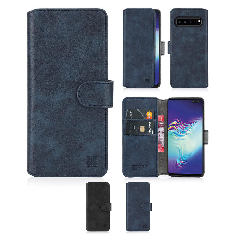 Samsung Galaxy S10 5G 'Essential Series 2.0' PU Leather Wallet Case Cover