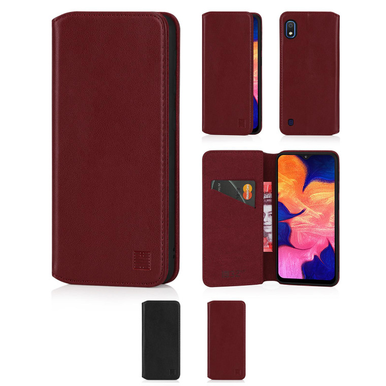 Samsung Galaxy A10 (2019) 'Classic Series 2.0' Real Leather Book Wallet Case