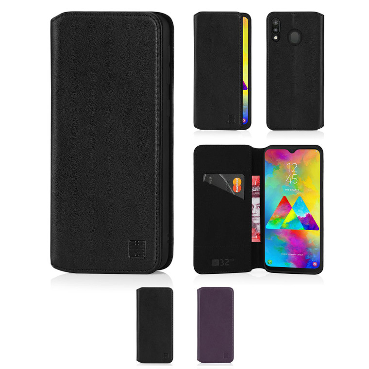 Samsung Galaxy M20 (2019) 'Classic Series 2.0' Real Leather Book Wallet Case