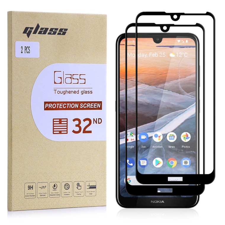 Nokia 3.2 (2019) Tempered Glass Screen Protector - 2 Pack