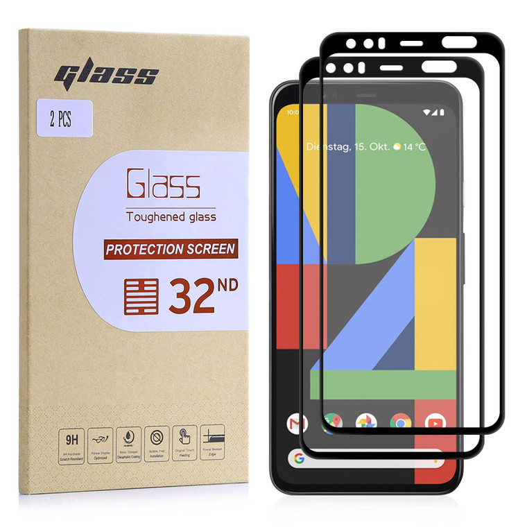 Google Pixel 4 Tempered Glass Screen Protector - 2 Pack
