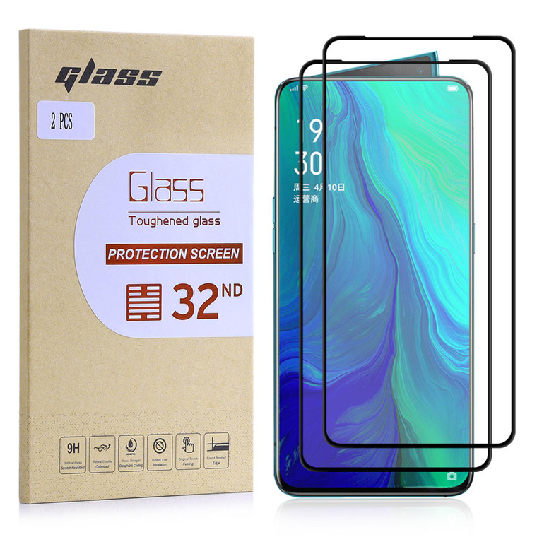 Oppo Reno 5G Tempered Glass Screen Protector - 2 Pack