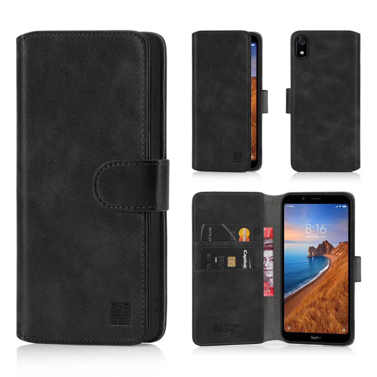Xiaomi Redmi 7A 'Essential Series 2.0' PU Leather Wallet Case Cover