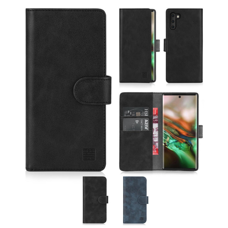 Samsung Galaxy Note 10 'Essential Series' PU Leather Wallet Case Cover