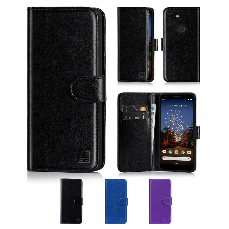 Google Pixel 3A XL 'Book Series' PU Leather Wallet Case Cover