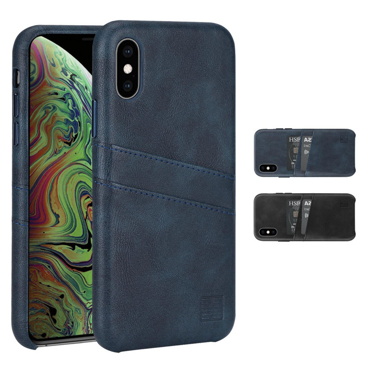 Apple iPhone X & iPhone XS 'Essential Series' Clip-On PU Leather Case Cover