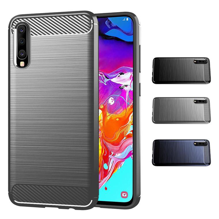 Samsung Galaxy A70 (2019) 'Carbon Series' Slim Case Cover
