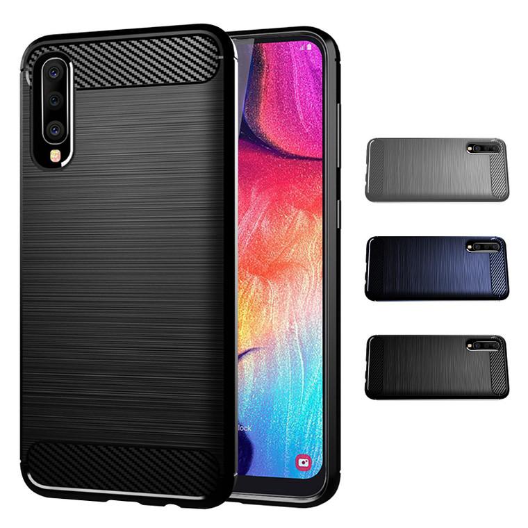 Samsung Galaxy A50, A50S & A30S (2019) 'Carbon Series' Slim Case Cover