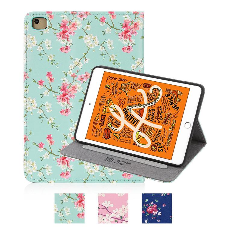 Apple iPad Mini 5 (2019) 'Floral Series' PU Leather Design Tablet Case