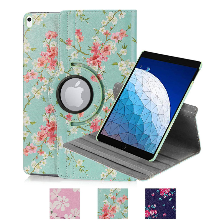 Apple iPad Air 3 (2019) 'Floral Series' PU Leather Design 360 Tablet Case