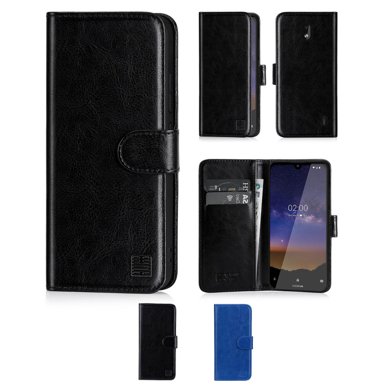 Nokia 2.2 (2019) 'Book Series' PU Leather Wallet Case Cover
