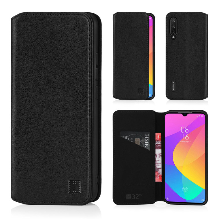 Xiaomi Mi A3 'Classic Series 2.0' Real Leather Book Wallet Case