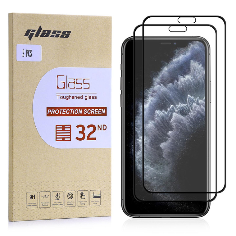 """Apple iPhone 11 Pro (5.8"""") Tempered Glass Screen Protector - 2 Pack"""