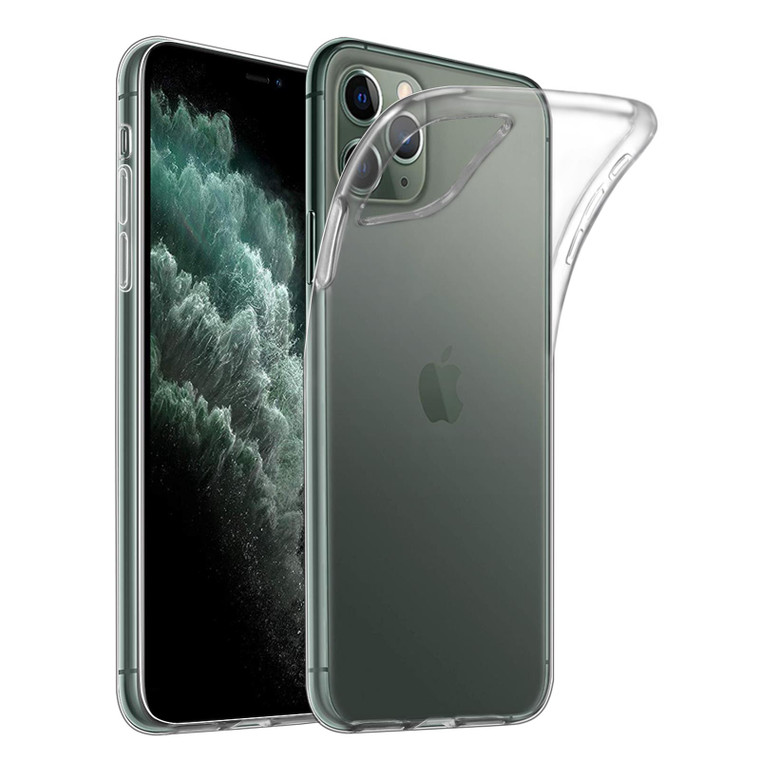"""32nd Clear Gel Case Cover for Apple iPhone 11 Pro Max (6.5"""") - Clear"""