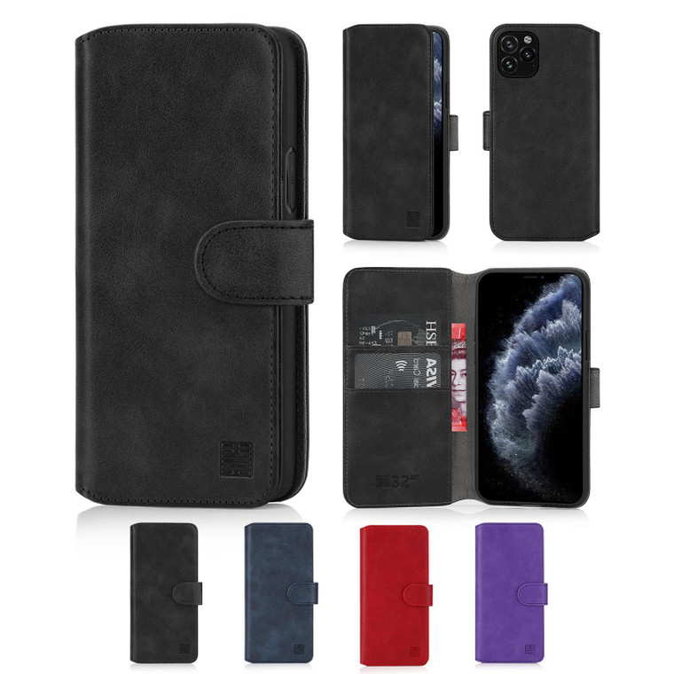 """Apple iPhone 11 Pro (5.8"""") 'Essential Series 2.0' PU Leather Wallet Case Cover"""