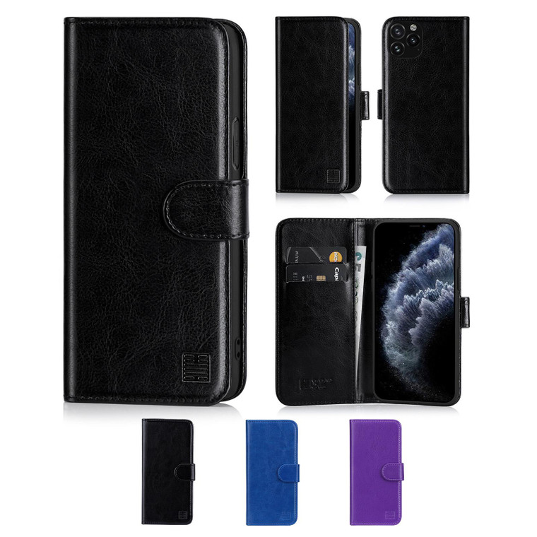 """Apple iPhone 11 Pro (5.8"""") 'Book Series' PU Leather Wallet Case Cover"""