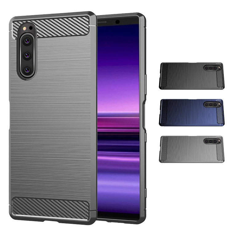 Sony Xperia 5 (2019) 'Carbon Series' Slim Case Cover