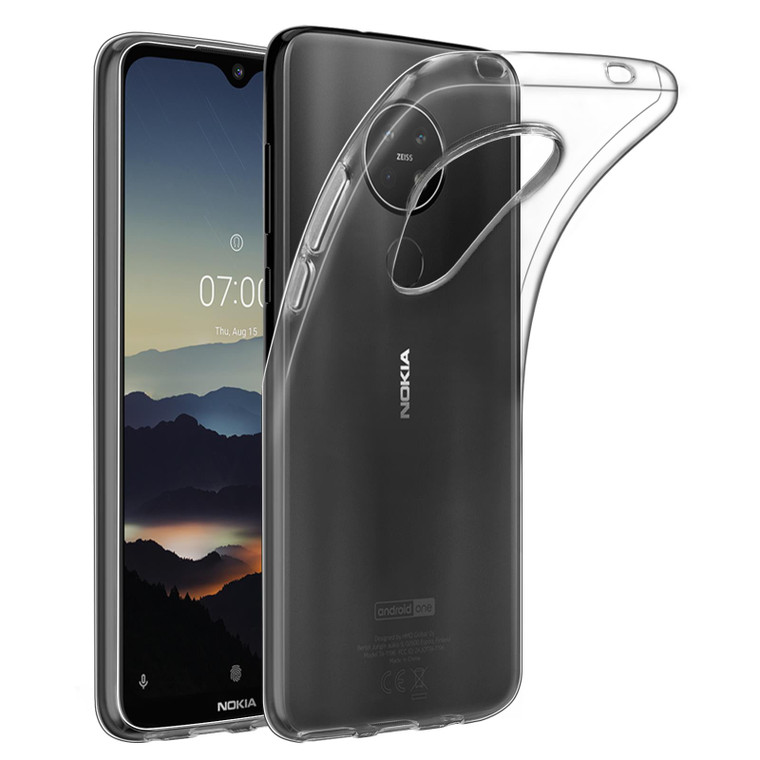 32nd Clear Gel Case Cover for Nokia 6.2 (2019) - Clear