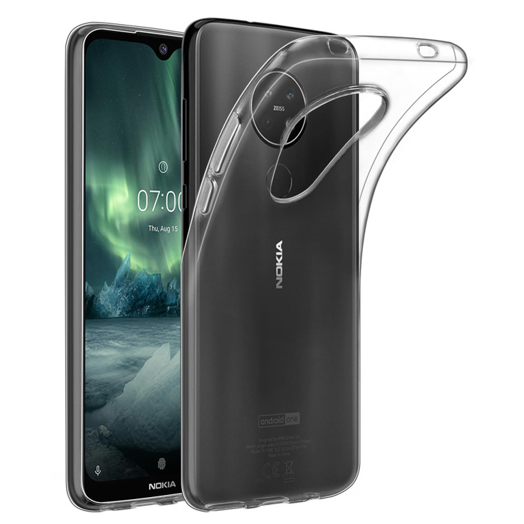 32nd Clear Gel Case Cover for Nokia 7.2 (2019) - Clear