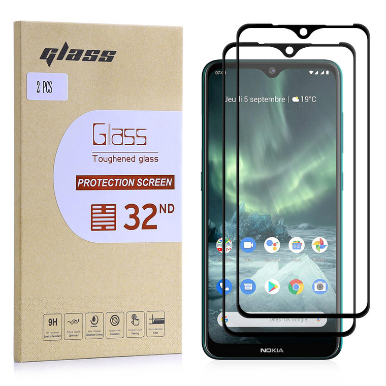 Extra Armoured Tempered Glass for Nokia 7.2 (2019) - 2 Pack