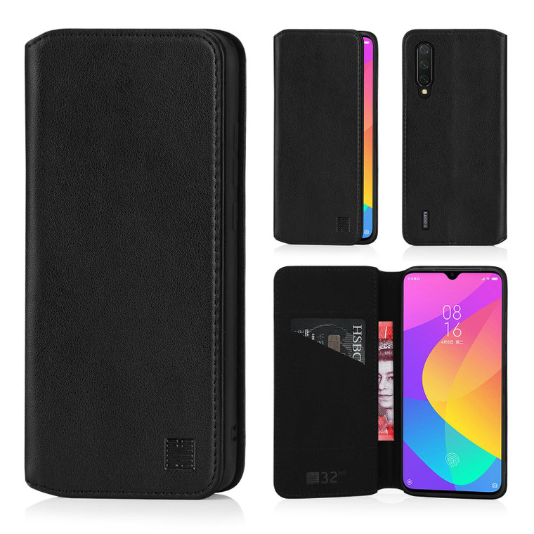 Xiaomi Mi 9 Lite 'Classic Series 2.0' Real Leather Book Wallet Case