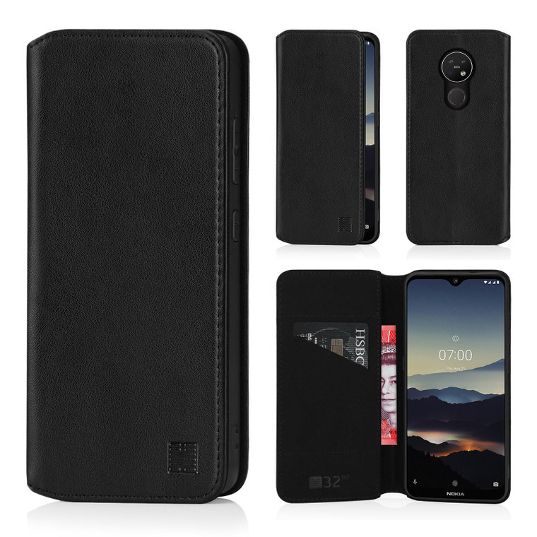 Nokia 6.2 (2019) 'Classic Series 2.0' Real Leather Book Wallet Case