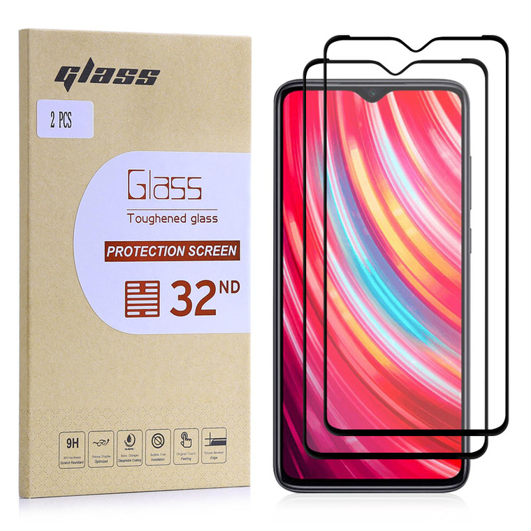 Xiaomi Redmi Note 8 Pro Tempered Glass Screen Protector - 2 Pack