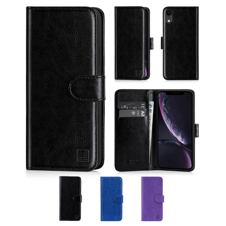 Apple iPhone XR 'Book Series' PU Leather Wallet Case Cover