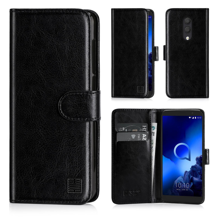 Alcatel 1X (2018) 'Book Series' PU Leather Wallet Case Cover