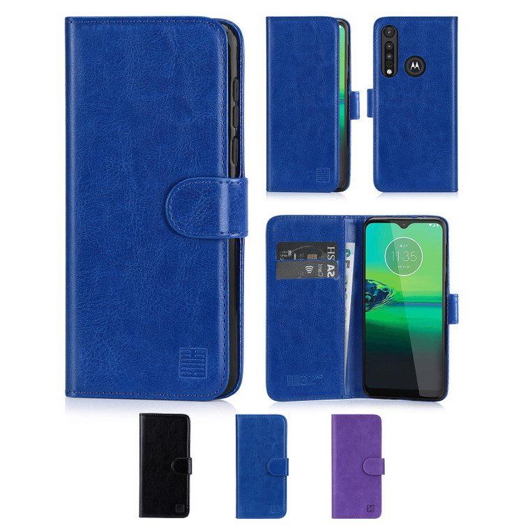 Motorola Moto G8 Play 'Book Series' PU Leather Wallet Case Cover