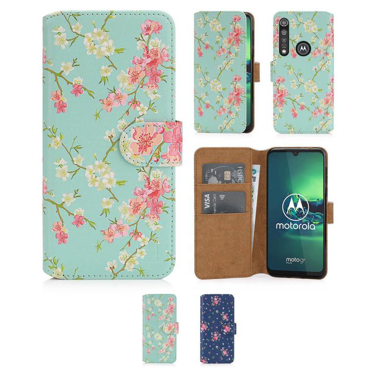 Motorola Moto G8 Plus 'Floral Series 2.0' PU Leather Design Book Wallet Case