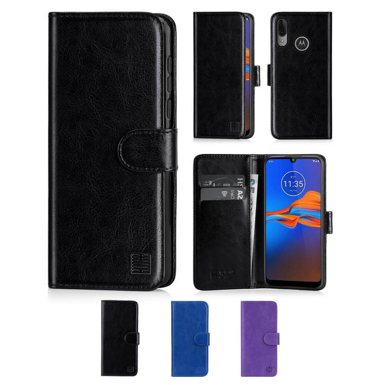 Motorola Moto E6 Plus 'Book Series' PU Leather Wallet Case Cover