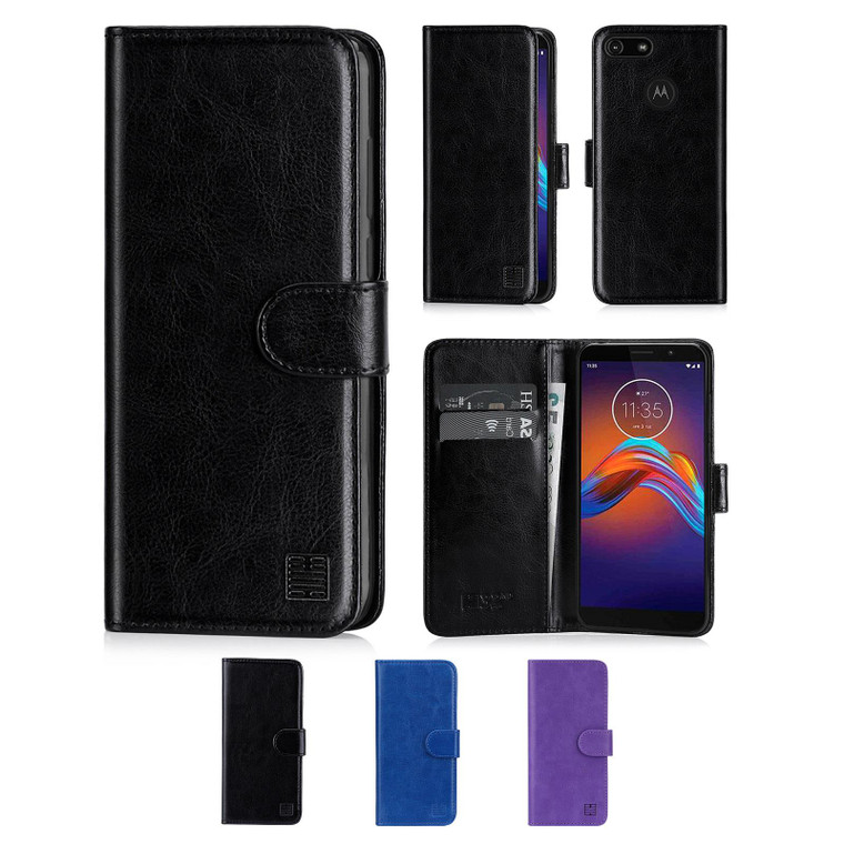 Motorola Moto E6 Play 'Book Series' PU Leather Wallet Case Cover