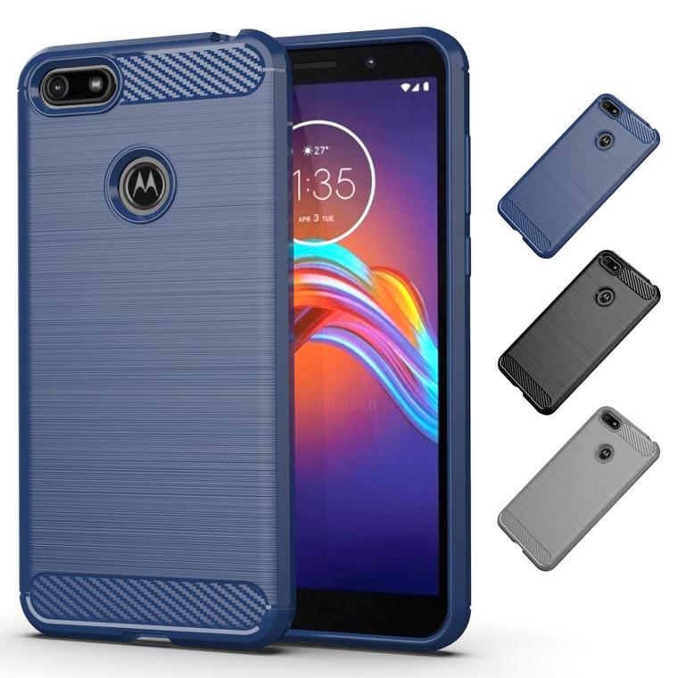 Motorola Moto E6 Play 'Carbon Series' Slim Case Cover