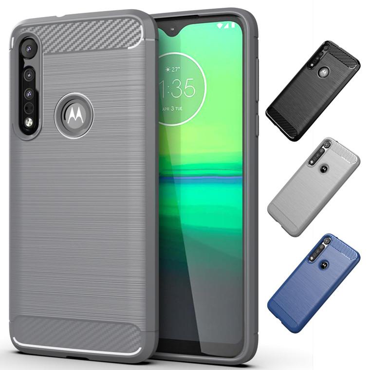 Motorola Moto One Macro 'Carbon Series' Slim Case Cover