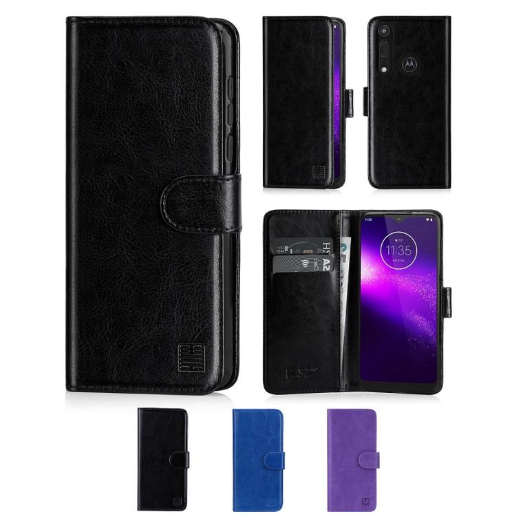 Motorola Moto One Macro 'Book Series' PU Leather Wallet Case Cover