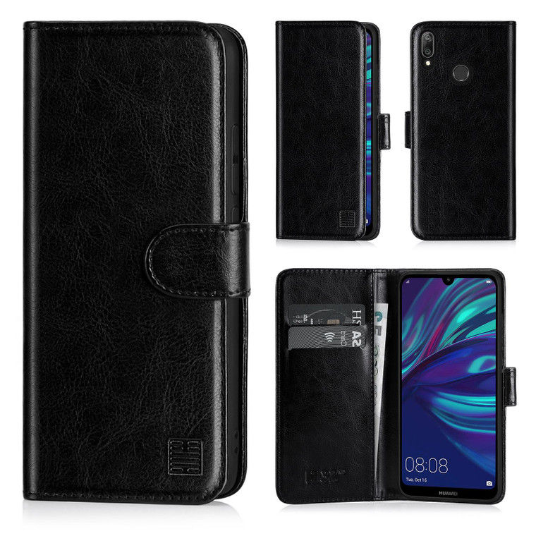 Huawei Y7 (2019) 'Book Series' PU Leather Wallet Case Cover