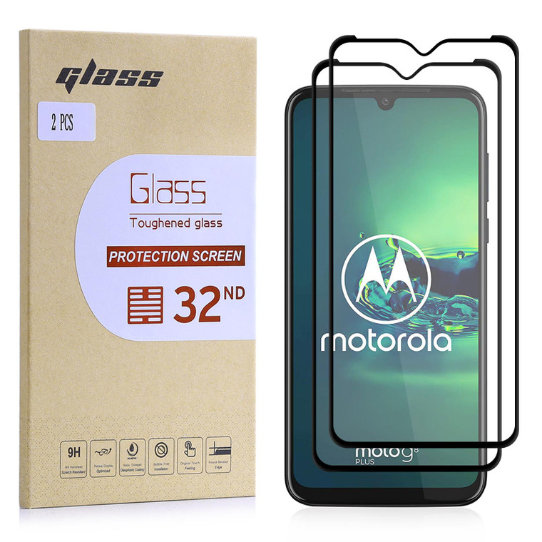 Motorola Moto G8 Plus Tempered Glass Screen Protector - 2 Pack