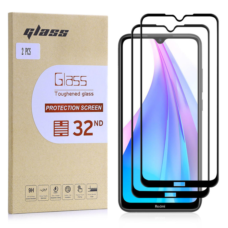 Xiaomi Redmi Note 8T Tempered Glass Screen Protector - 2 Pack