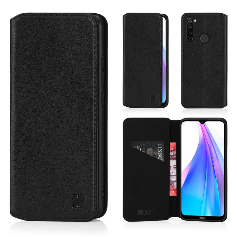 Xiaomi Redmi Note 8T 'Classic Series 2.0' Real Leather Book Wallet Case
