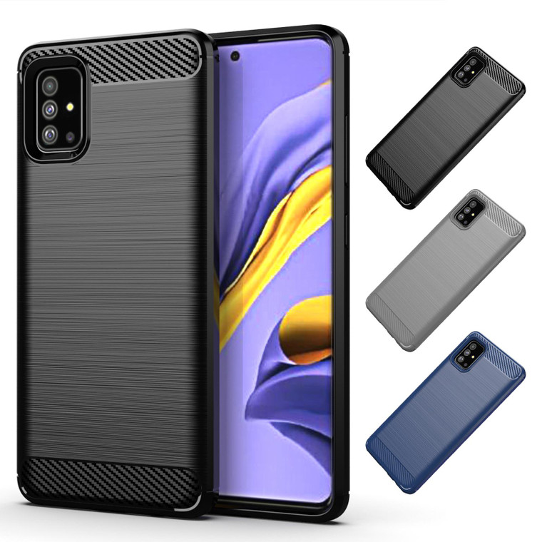 Samsung Galaxy A51 (2020) 'Carbon Series' Slim Case Cover